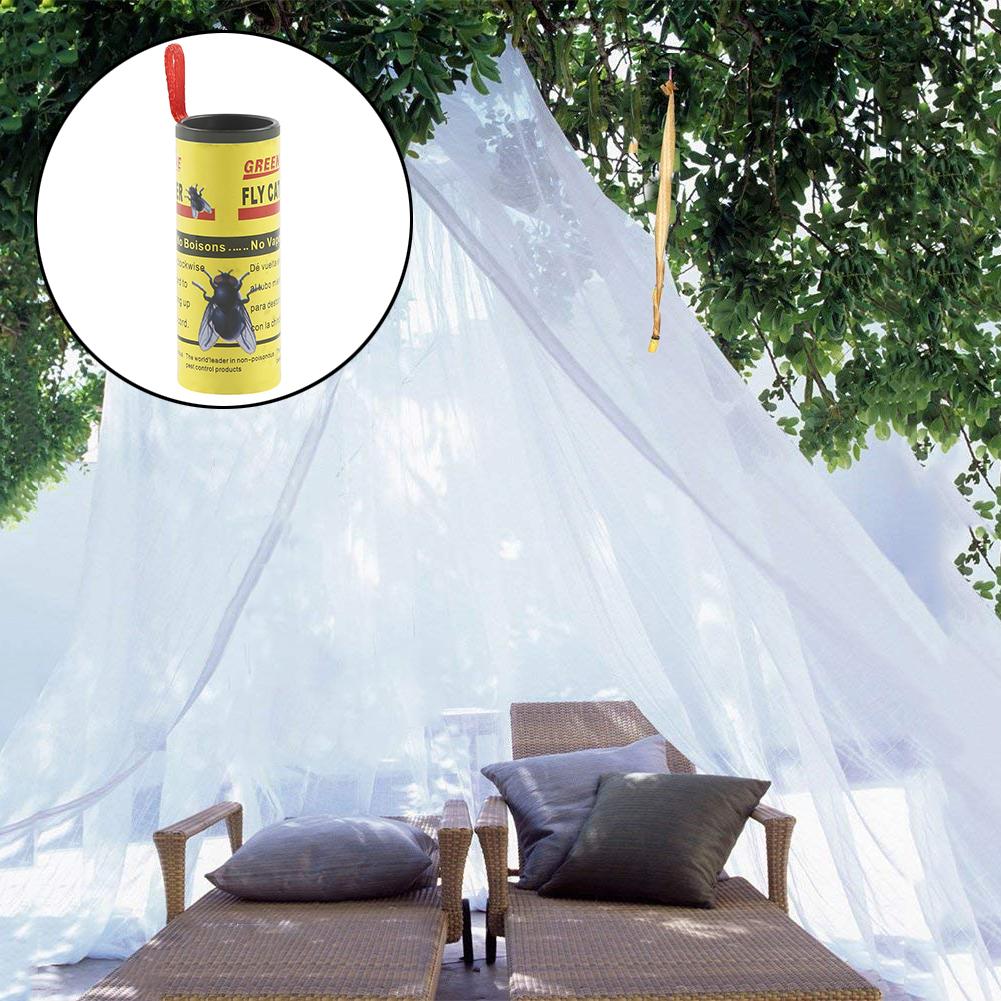 4*Fly Sticky Paper & 4pcs Fly Glue Trap Powerful Mosquito Fly Killer Rolls Sticky Fly ...