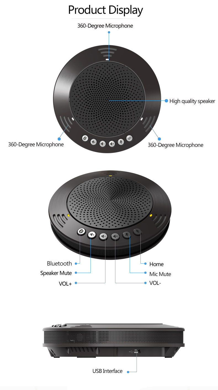 Tenveo a100b sem fio bluetooth speakerphone profissional