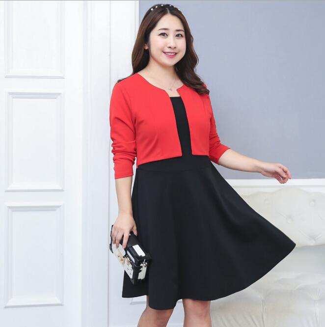 US $26.99 10% OFF|women\'s spring elastic one piece dress lady\'s plus size  dress XL~4XL tb069-in Dresses from Women\'s Clothing on AliExpress