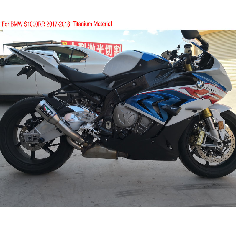 2018 New Titanium Motorcycle Exhaust For Bmw S1000rr Year 2017