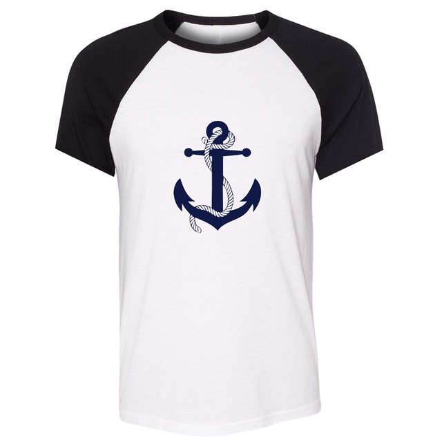 Anchor sailor vintage style navy Nautical Brand New Men Short Sleeve T shirt Cotton Funny Unisex Summer Tops Tee Hipster Street