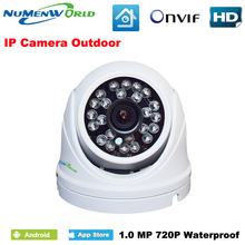 Promotion Onvif 1280 720P HD 1 0MP Mini Dome IP Camera Outdoor Indoor for day and