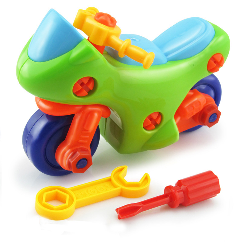 Children's DIY Disassembly Small Toys Puzzle Motorcycle Car Screw Nut Toys