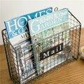 Настенная креативная подставка для газет  металлическая стойка для журналов 36x13x28 см