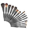 15pcs Black Makeup Brushes Set Powder Foundation Eyeshadow Eyeliner eyeshadow brush Lip Contour Concealer Smudge Brush Tools