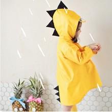 Dwayne 귀여운 작은 공룡 방수 폴리 에스터 비옷 어린이 보이 방풍 판치 유치원 학생 아기 레인 코트