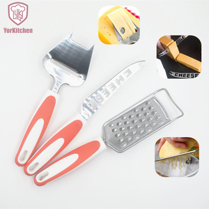 Free Shipping 3 PC Set Food Grade Stainless Steel Cheese Tools Cheese Slicer Cheese Knife Cheese Grater