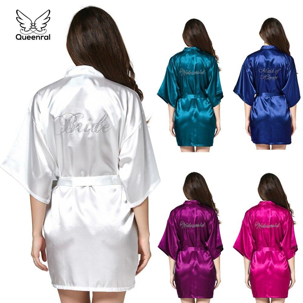 Robe Wedding Bride Women Sleepwear Nightwear White Bridal Dress Bathrobe Night Dress Home Gown Sleepwear Nightgown Dressing Gown