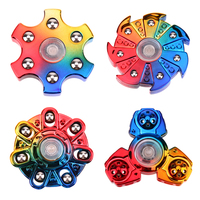 VKTECH 2017 New Tri-Spinner Fidget Toy Electroplated EDC Hand Spinner Anti Stress Reliever And ADAD Finger Spinners