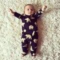 Varejo 2016 Baby Boy Romper a Roupa Do Bebê Da Menina do Menino Macacão de Outono Macacão de Algodão Confortável Semelhante Dos Desenhos Animados Manga Longa Carter