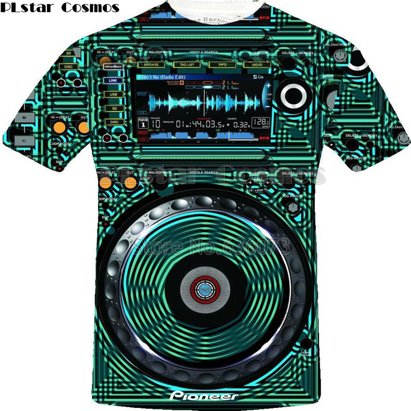 Dj Controller 3D Printed Tshirt Men For Rock Dj Disco Player DJ Tee LED T Shirt Flashing Equalizer EL Picture On T-Shirts 05