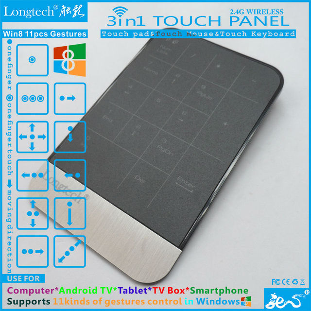 New Arrival russian keyboard with touchpad functions touchable panel control pc,android tv/tv