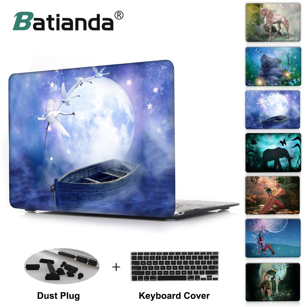 Wonderland fairy tale world girl printed Case For Apple macbook Air Pro Retina 11 12 13 15 laptop bag For Mac book 13.3 inch dan matthews online business all in one for dummies