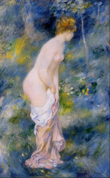 Standing Bather Auguste <font><b>Renoir</b></font> paint reproduction nice canvas wall art <font><b>nude</b></font> girl pictures for modern wall decoration No Frame