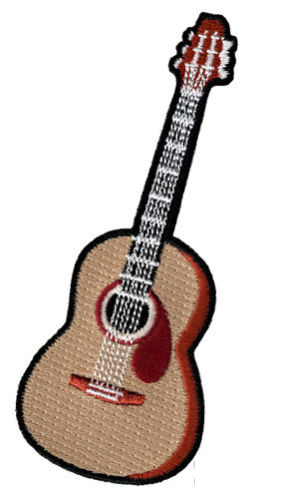 Acoustic Guitar Applique Patch Iron on