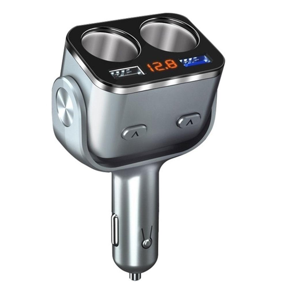 5 V/2.4A 3A DC12/24 V Автомобильный Запчасти& Аксессуары для автомобильного зарядного устройства Поворотный Автомобильный прикуриватель адаптер Универсальный Напряжение обнаружения - Название цвета: silver