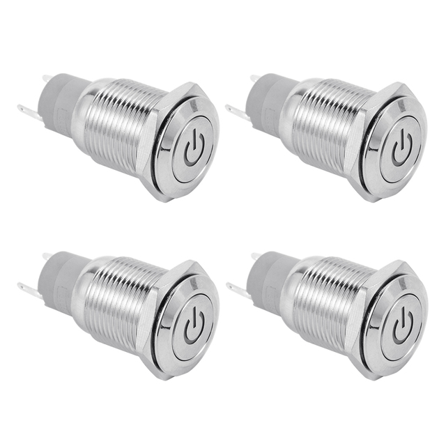 Xcsource Splash Resistant 16mm Power Push Button Onoff Latching