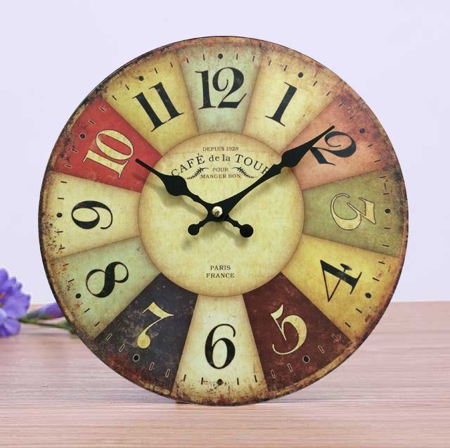Cheap Traditional Wall Clocks France Paris Antiqued Digital Wood ...