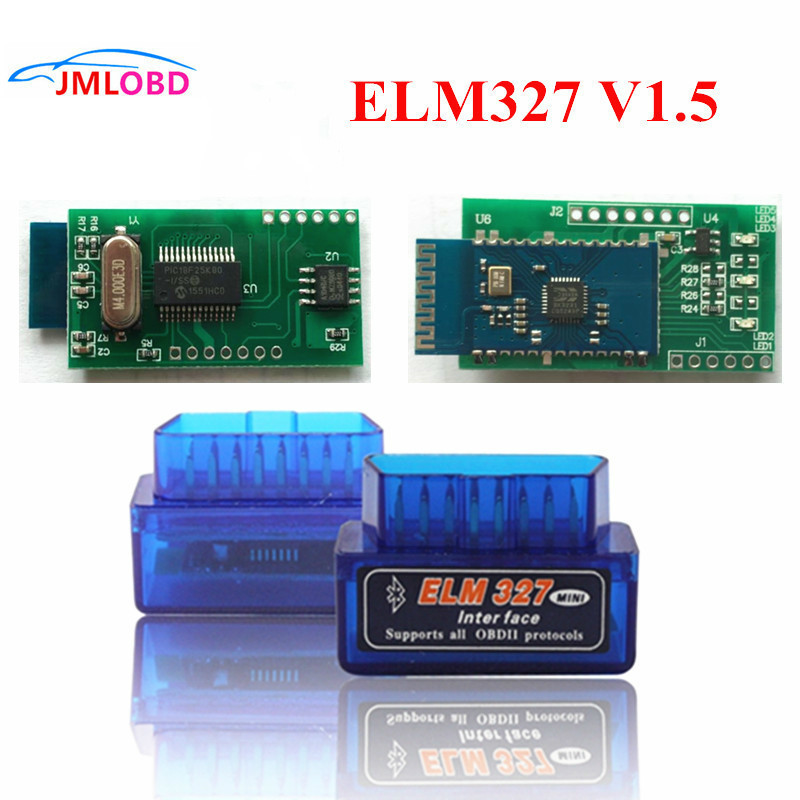 Fast Shipping Super Mini ELM327 OBD2 Bluetooth <font><b>V1.5</b></font> ELM <font><b>327</b></font> PICI8F25K80 Mini Auto Car Diagnostic Interface Scanner Accessories image