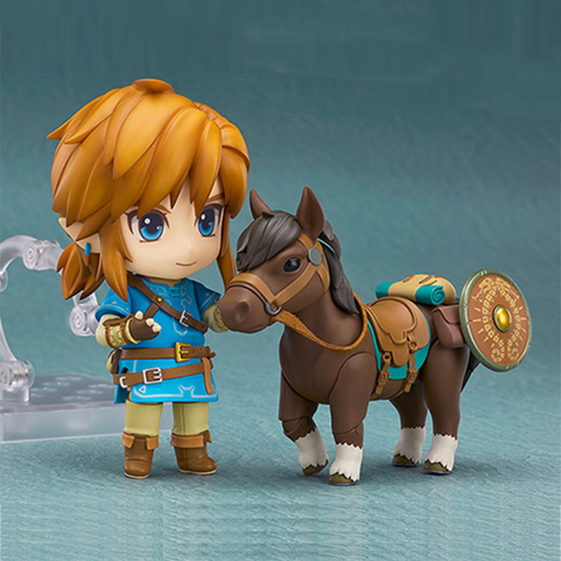 Zelda Link Figure Nendoroid Juguetes 10CM PVC The Legend of Zelda Breath of the Wild Anime Figurines Vinyl Doll Toys legend of zelda action figure toys 10cm pvc nintendo 3ds zelda manga figma zelda link vinyl doll