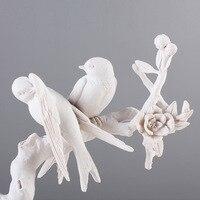 Home Decoration Accessories Chinese Style Birds Branches Resin Crafts Birds Figurines Birdie DIY Garden Ornament Miniature