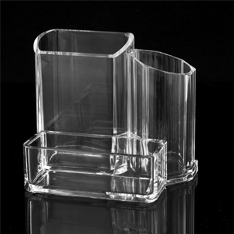 Clear Home Office Cosmetic Pen Pencil Card Holder Dispaly Storage Case Tool Set