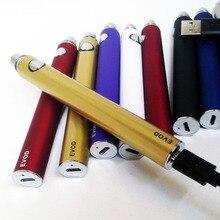 Envío libre 5pin micro usb puerto usb evod batería passthrough cigarrillo electrónico recargable de carga inferior y superior