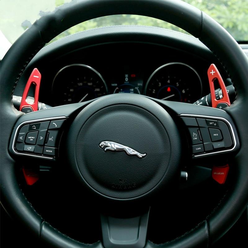 Extension de manette de vitesse de palette de changement de volant en aluminium pour Jaguar XF/XFL XE/XEL XJ F-PACE style de voiture automatique E-PACEExtension de manette de vitesse de palette de changement de volant en aluminium pour Jaguar XF/XFL XE/XEL XJ F-PACE style de voiture automatique E-PACE