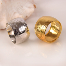 10 шт. гостиничная модель номер кольцо салфетки кольцо для салфеток западный ресторан кольцо Металлическое для салфетки полотенце кольцо золото серебро