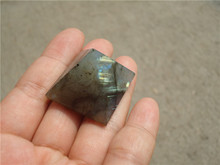 Natural Moonstone natural labradorite pyramid Decoration LA1022
