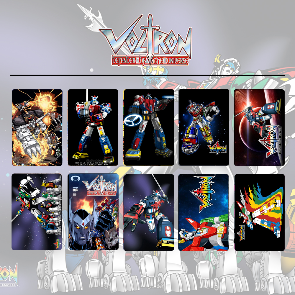 10pcs/set Anime Voltron: Legendary Defender Card Stickers DIY Frosted Decal Phone Waterproof Stickers Souvenir Collection Gift