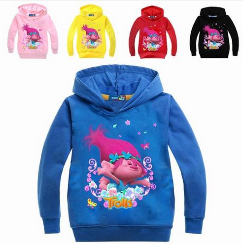Kids Sweatshirt For Baby Clothing Bobby Tops New Autumn Trolls Clothes For Girls T-shirt Long Sleeve T Shirt Printing Hoodies