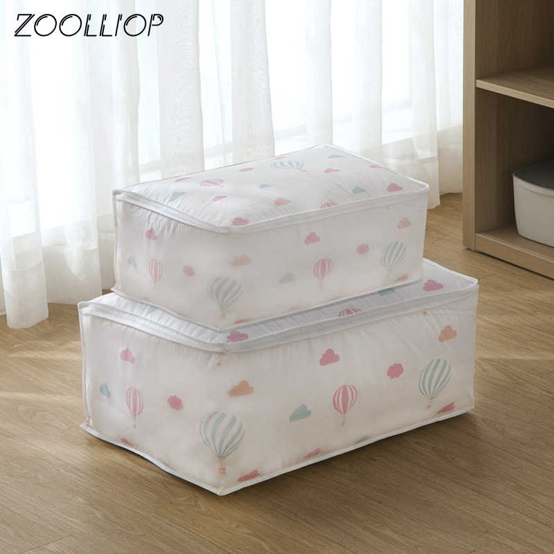 Fashion hot 2018 Household Items Storage Bags Organizer Clothes Quilt Finishing Dust Bag Quilts pouch Washable quilts bags 1pc