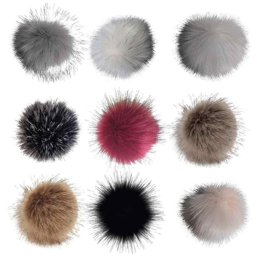 12 centímetros Faux Fur Bola Pompom DIY Tricô Lenços Chapéu Sapatos Chaveiro Acessório hot