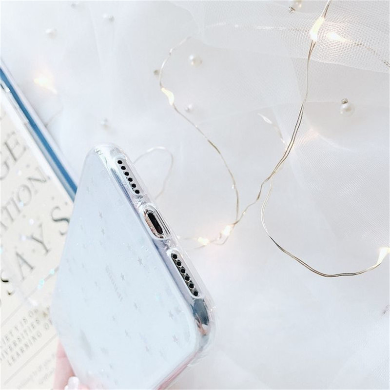 Glitter sparkling star soft tpu case For xiaomi redmi note 5 pro case For redmi Note 5 cover For Xiaomi Mi 8 SE capa coque shell in Fitted Cases from Cellphones Telecommunications