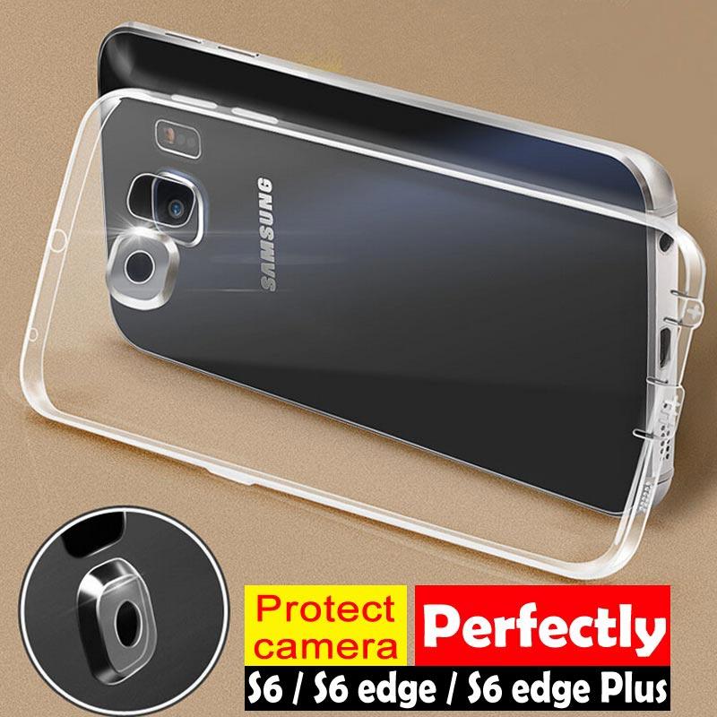 Kasus Perlindungan Kamera Penuh untuk Samsung Galaxy S6 tepi ditambah shell penutup Bahan TPU lembut yang fleksibel untuk Samsung Note 5 S7 edge