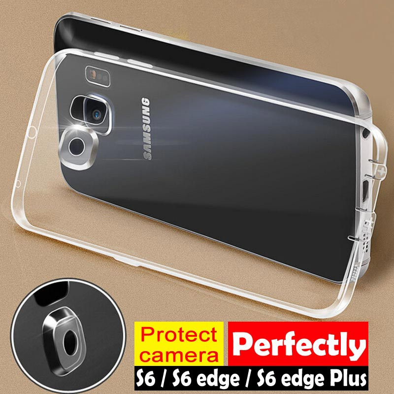 Full Camera Protection case for Samsung Galaxy S6 edge plus cover shellFlexible soft TPU material the best design free shipping