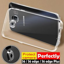 Full Camera Protection case for Samsung Galaxy S6 edge plus cover shellFlexible soft TPU material the best design
