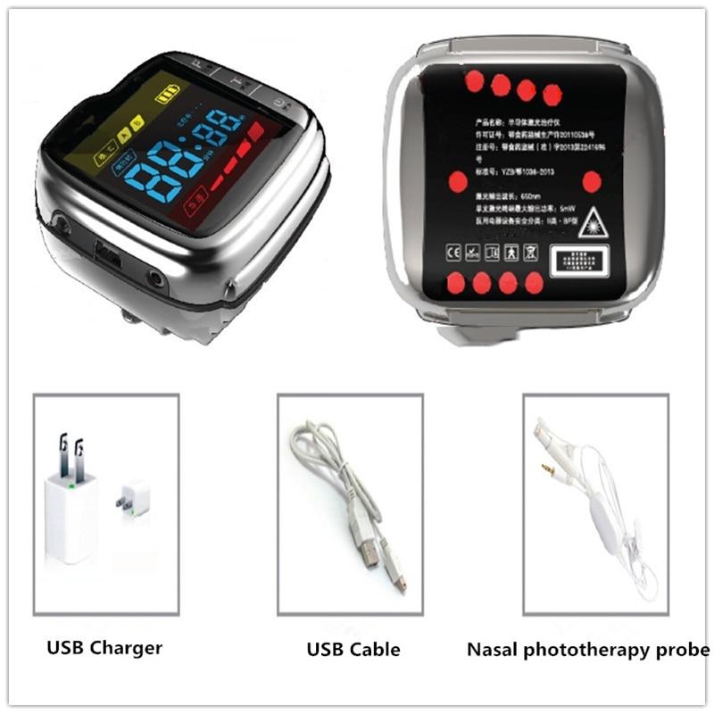 Accueil utilisation low niveau physique laser thérapie poignet montre pour haute sang presse & haute suger sang traitement