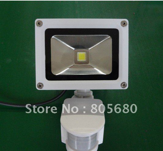free shipping promotion new 3pcs/lot PIR 10w led floodlight/led sensor flood lamp/white/black housing optional