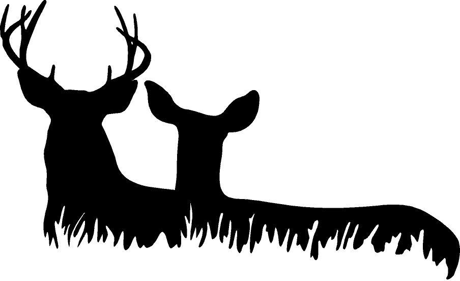 Deer Head Vinyl Wall Decal Animal Deers Family Hunting Kid