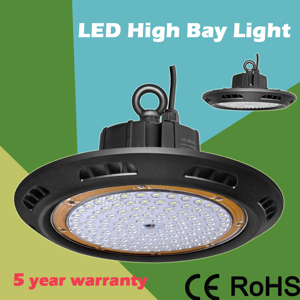 DHL shipping USA IP65 110lm/w super bright 100w 150w 200w led highbay light outdoor high bay led light