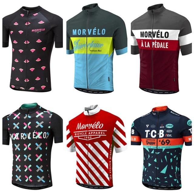 2018 Summer Morvelo Cycling Jersey short sleeve cycling shirt Bike bicycle clothes Clothing Ropa Ciclismo