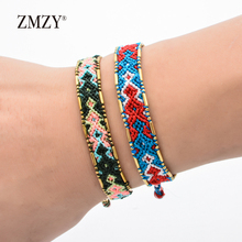 ZMZY New Rope Ethnic Bracelet Boho Handmade Bracelet Colorful Handknotted Weave Bohemian Vintage Bracelet Friendship Jewelry