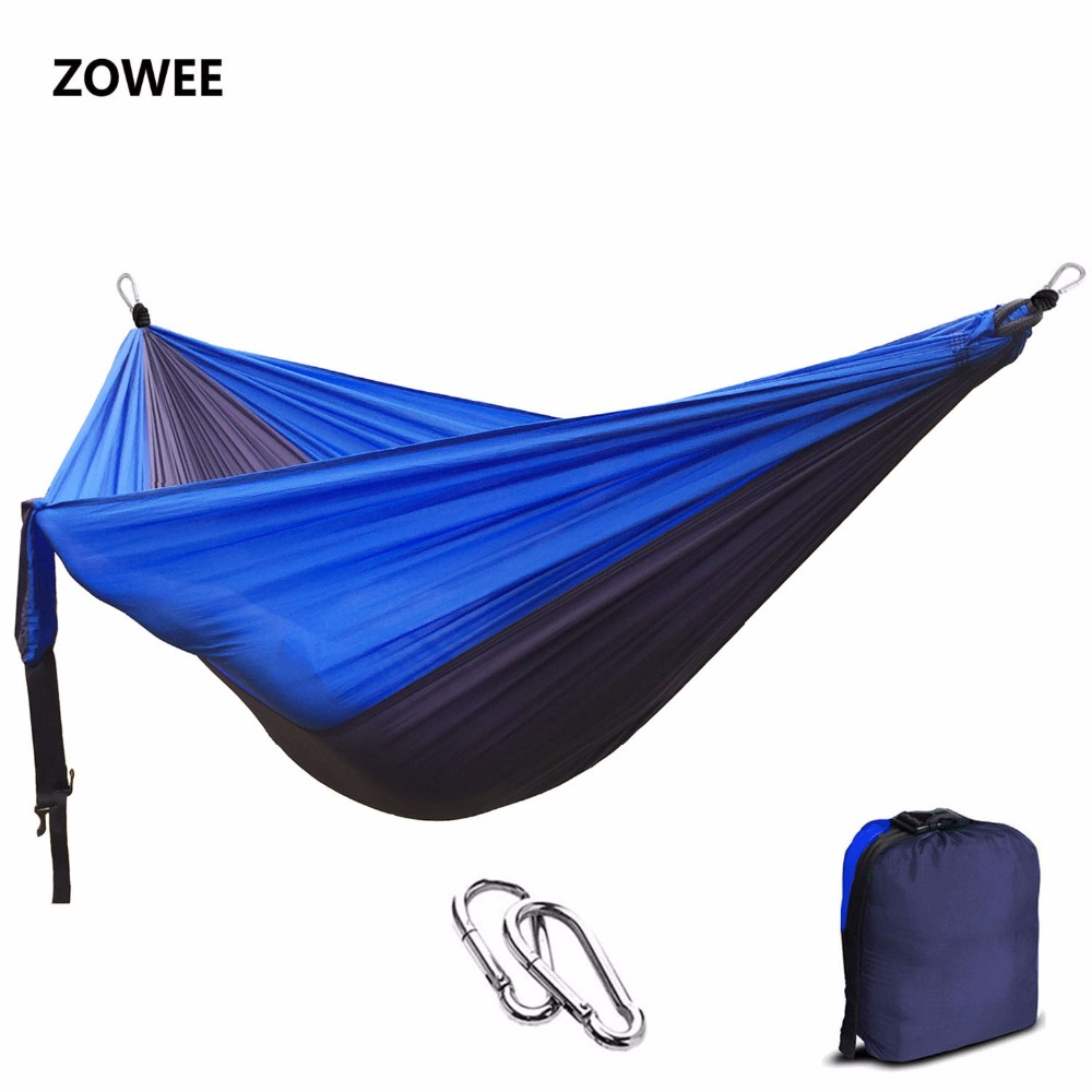 Solid Color Nylon Parachute Hammock Camping Survival garden swing Leisure travel Portable outdoor furniture FREE SHIPPING 2 people portable parachute hammock outdoor survival camping hammocks garden leisure travel double hanging swing 2 6m 1 4m 3m 2m