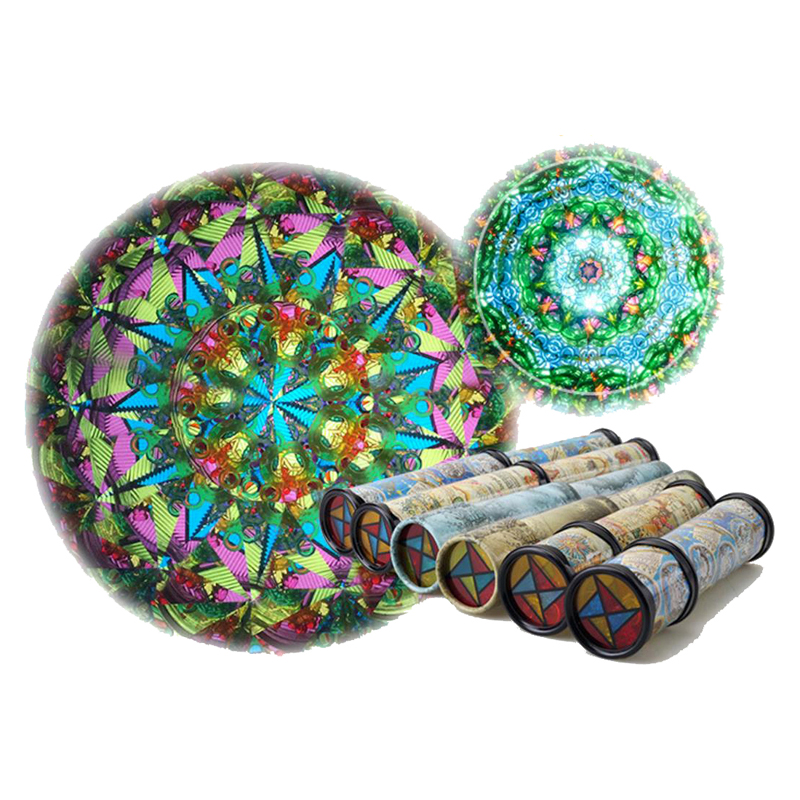 NEW Large Scalable Rotating Kaleidoscopes Extended Rotation Adjustable Fancy Colored World
