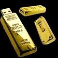 2.0 Barra de ouro Usb Creativo 128 GB 16 GB 32 GB Usb Flash Drive de 2 TB Chave de metal Pen Drive 64 GB Pendrive 1 TB de Memória Flash Vara Presente Do Homem