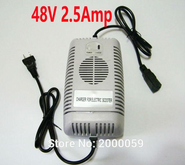 48 Volt 2.5 Amp 110V Current US Plug Battery Charger Razor Electric ...