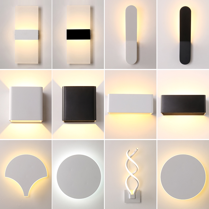 Multiple styles Minimalist LED Wall Lamps Bedsides Mirror Stairs Aisle Corridor Sconces Lampe Deco Modern Indoor led Wall Lights