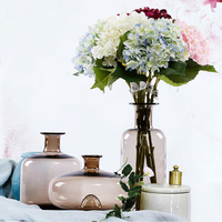 High quality brown Colored Glaze vase home decor Tabletop glass Vase Craft glass Flower bottle flowerpot wedding decorate
